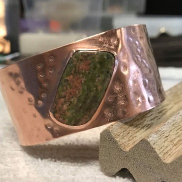 Copper & Unakite Cuff