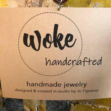 woke handcrafted sign