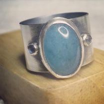 Aqua Marine Ring